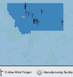 Location of Montana Wind Turbines