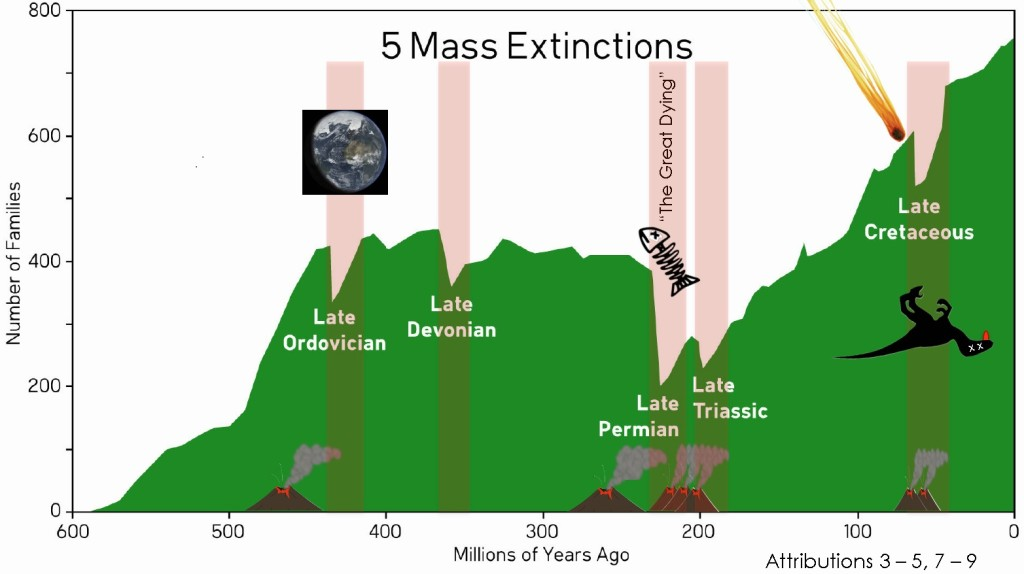 5 mass extinctions