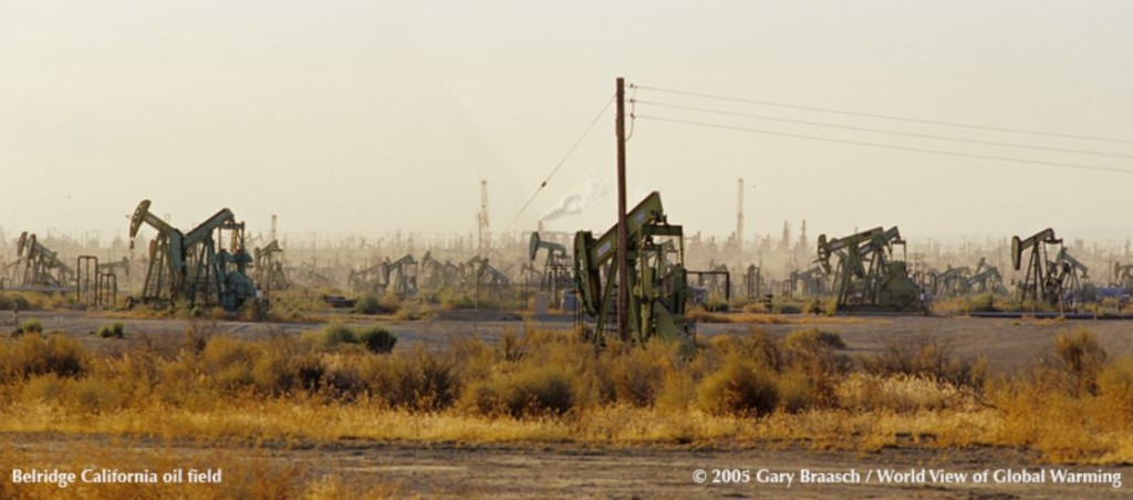 Picture of oil derricks
